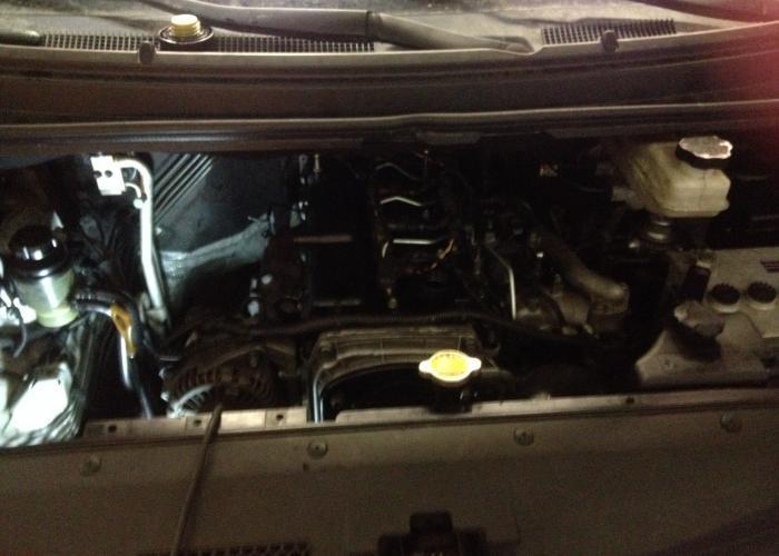 Hyundai Starex Снятие и чистка редукционного клапана давления масла -