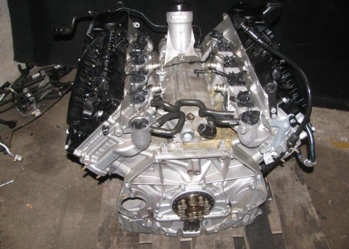 Замена двигателя BMW E65 4.5D M67N. Двигатель привезен из Германии. -